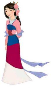 Fa mulan princesa de disney